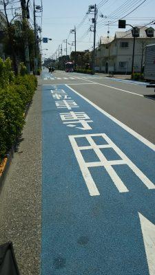 東大通り自転車レーン